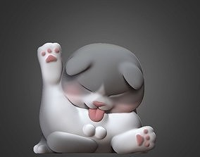 Cat Cute 3D Model For Print