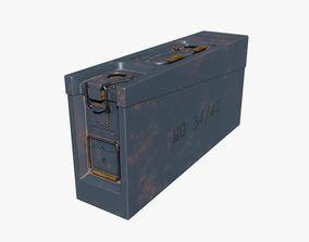 AMMO BOX GERMAN WW2 GREY 3D model