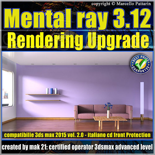 Mental Ray 3 12 3ds max 2015 Vol 2 Rendering Upgrade cd front