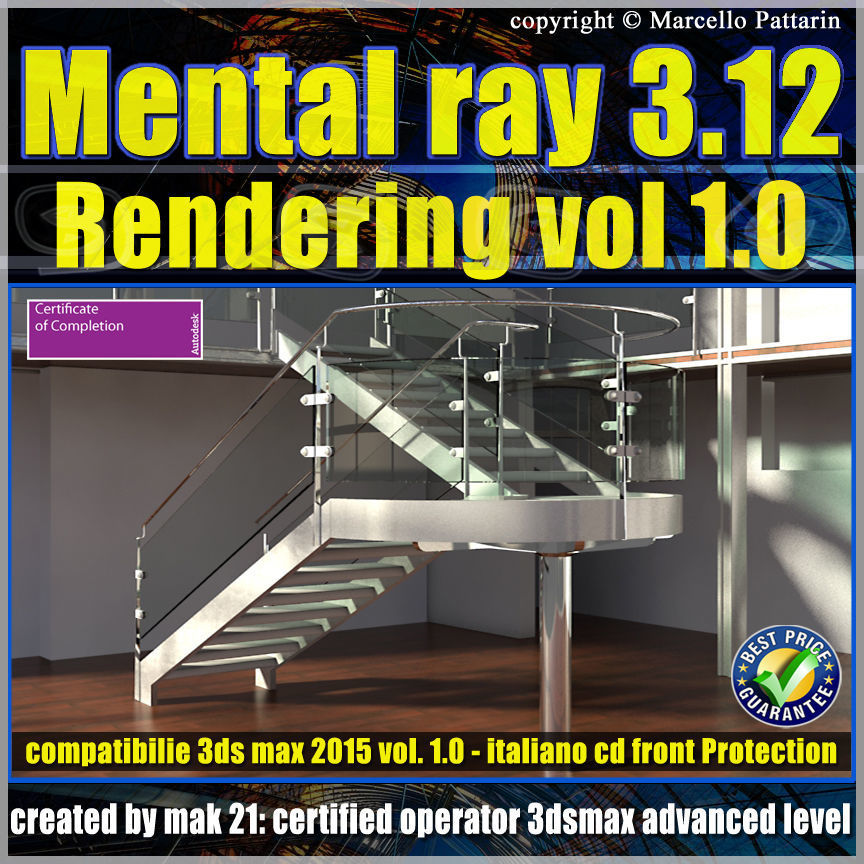 Mental Ray 3 12 In 3ds max 2015 Vol 1 Rendering Cd front