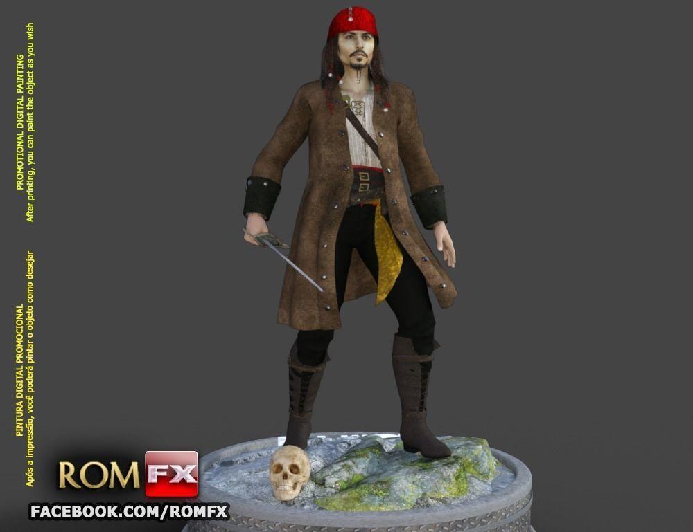 Captain Jack Sparrow - Pirates of the Caribbean Figure Printable