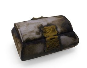 Mini Chest 02 - Low and High Poly versions 3D asset