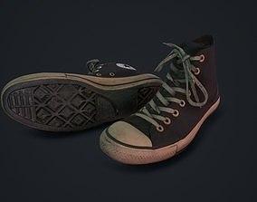 103da53181 Lowpoly. Converse All Star Black 3D model VR   AR ready