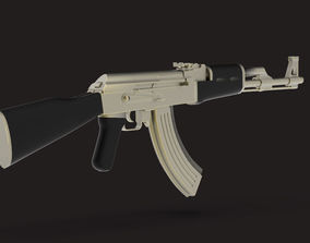 military AK-47 3D model low-poly