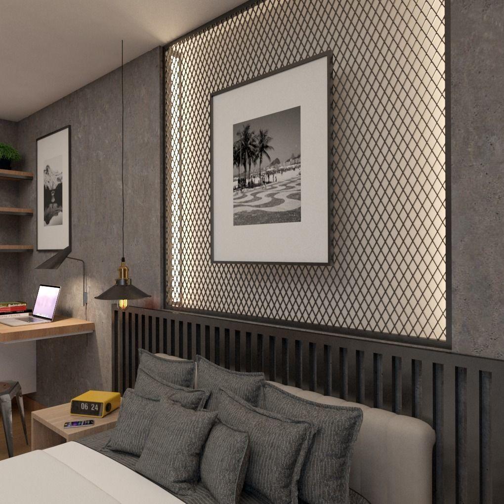 Industrial Modern Bedroom Design 3D   CGTrader on Model Bedroom Design  id=33261