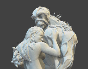SWAMP THING AND ABBY 3d printable statuine