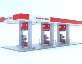 3D Petrol or Gas tent