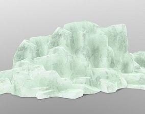 stone 3D asset VR / AR ready ice rocks