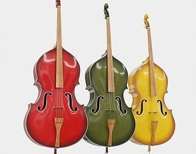 instrument 3D Double bass