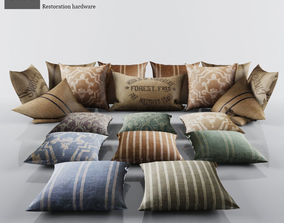 3D Collection of Pillows Restoration Hardware