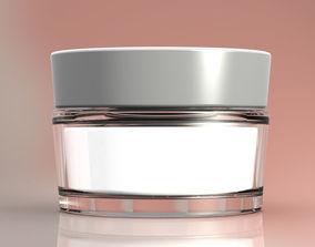 jar with cream 3D model
