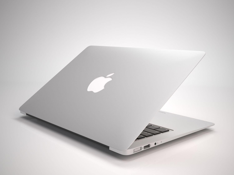 the new macbook air 2015 3d model max obj fbx mtl. Black Bedroom Furniture Sets. Home Design Ideas