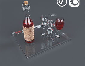 wine 3D Drink Glass