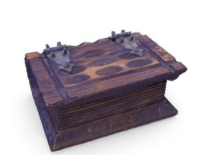 Book Chest Box 05 - Low and High Poly versions 3D asset