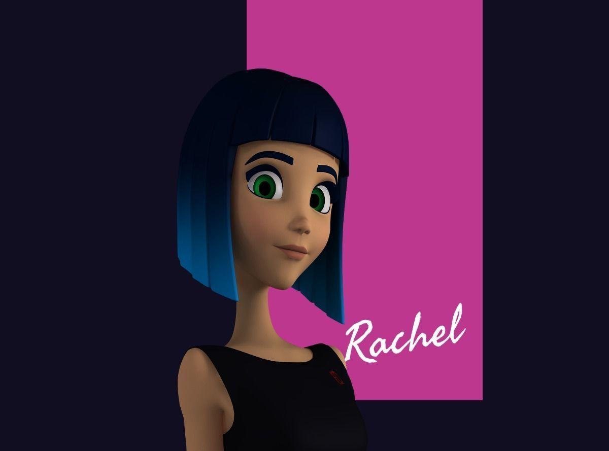Rachel Stylized Teen Female Character