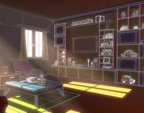Asset - Cartoons - House - Livingroom 3D