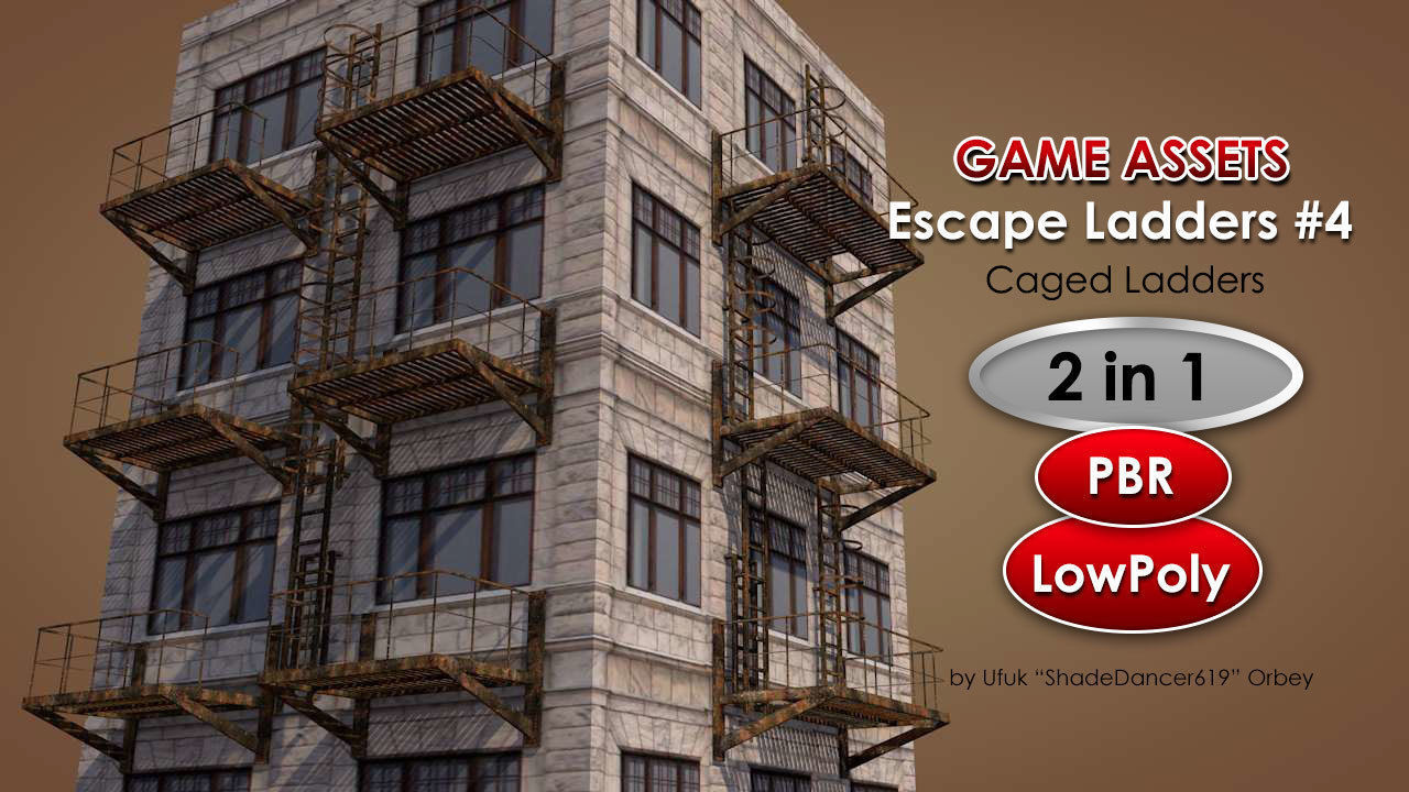 Caged Fire Escape Ladder