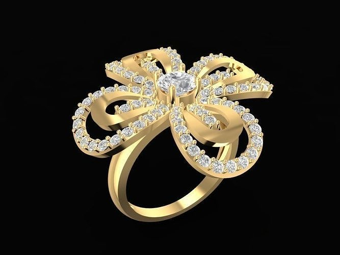 1489 diamond ring 3d model stl 3dm 1