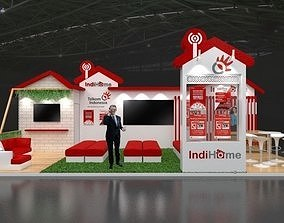 3D model booth Booth Minimalis 9x4