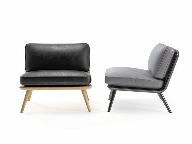 spine lounge 1710 chair 3d model max obj mtl fbx c4d skp pdf 1