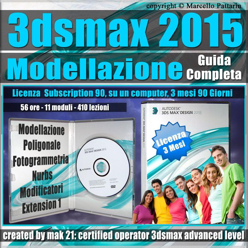 3ds max 2015 Modellazione Guida Completa 3 mesi