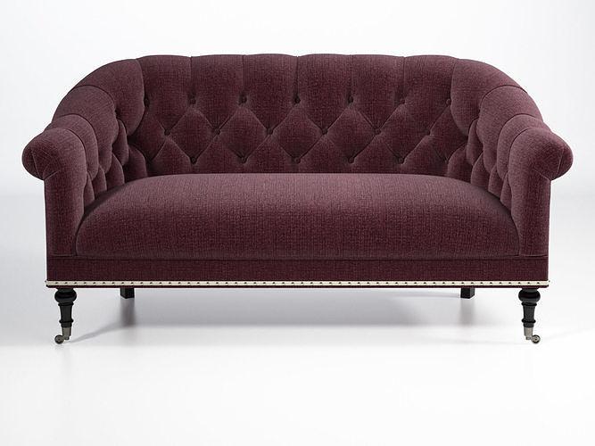 tangier 65 sofa 3d model max obj mtl fbx c4d skp mxs 1