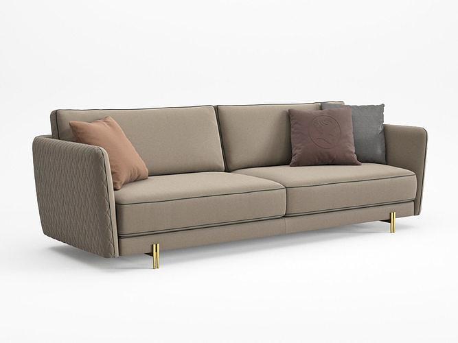 conrad sofa 260 3d model max obj mtl fbx c4d skp mxs 1