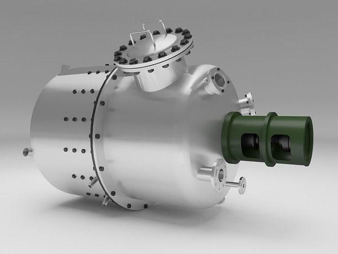 reactor 3d model max fbx 1