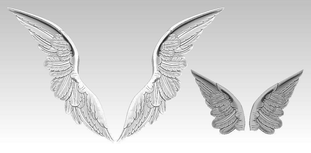 Relief Wings pair Detailed