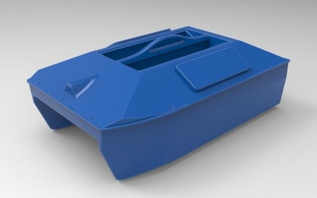 Large format Bait boat for carpfishing DIY 3d model