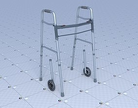 3D asset Elderly Walker