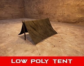 realtime Medieval Tent - Low Poly 3D Model
