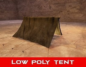 low-poly Medieval Tent - Low Poly 3D Model