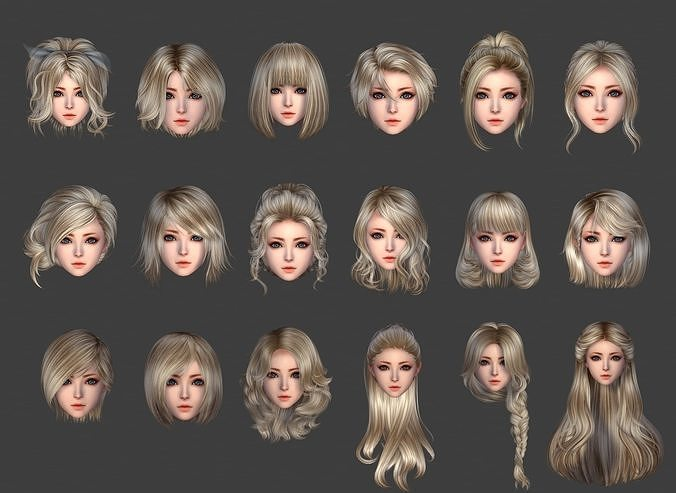 hair style girl short hair cape pig-tail long hair collection |