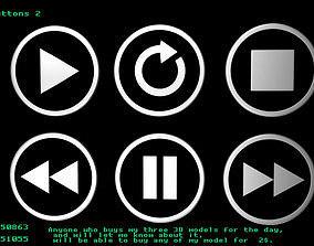 3D model Player buttons 2