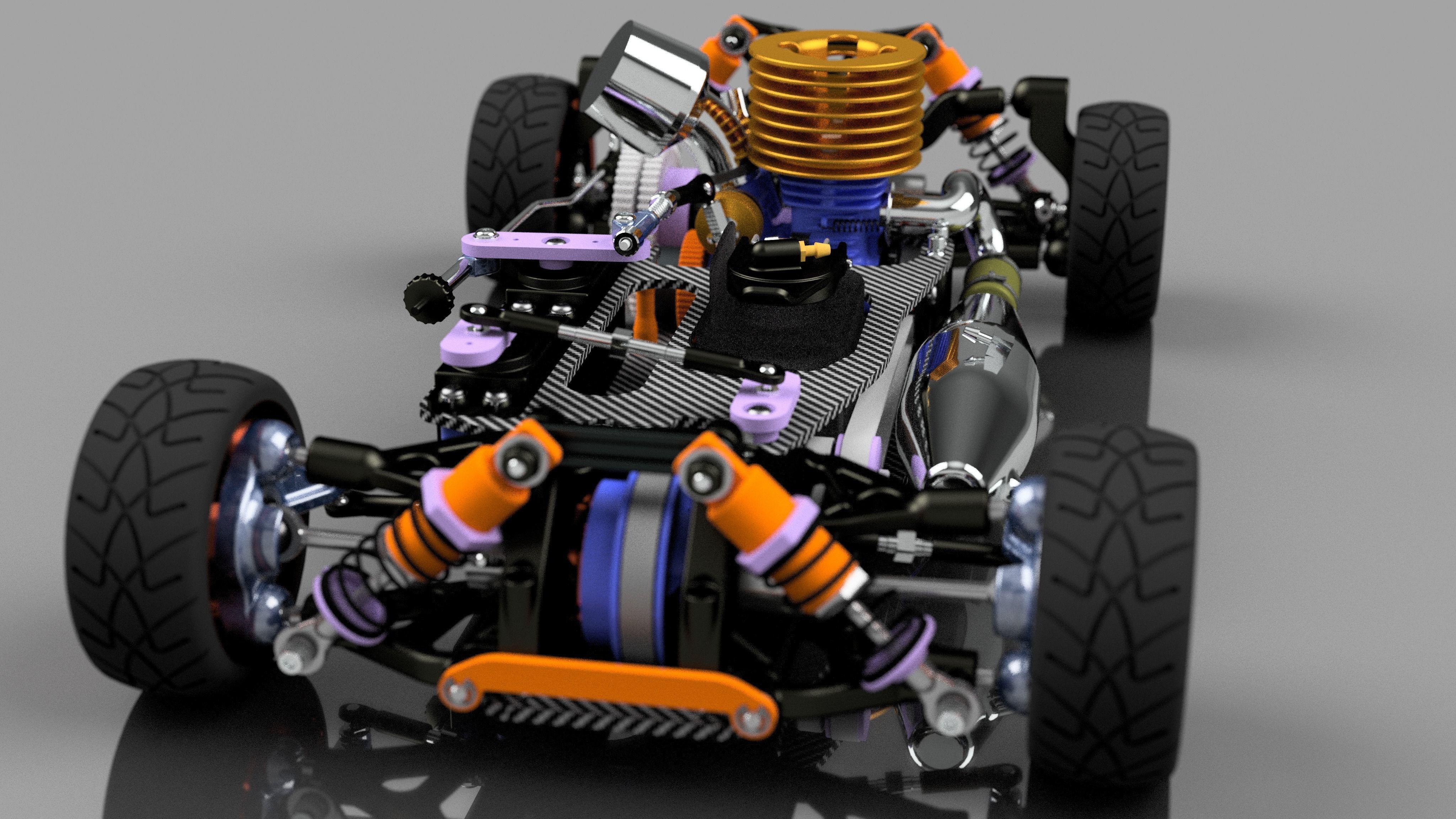 RC CAR CHASSIS KIT 3D printable model