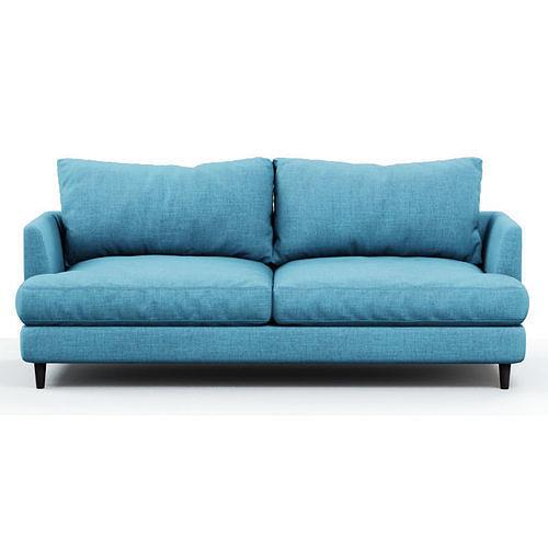 soft sofa fabric blue 3d model max obj mtl fbx c4d 1
