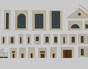 3D asset Architectural House Parts Kitbash kitbash