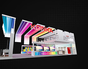 Exhibition Stand 18x9mtr 3sides open 3D Model other
