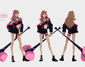 3D asset LISA Black Pink