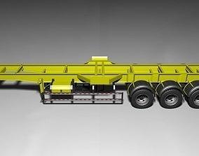 Truck Trailer long truck 40feet 3D model