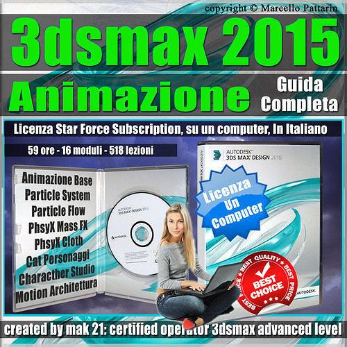3ds max 2015 animazione guida completa un computer 3d model max fbx tga pdf ms bip 1