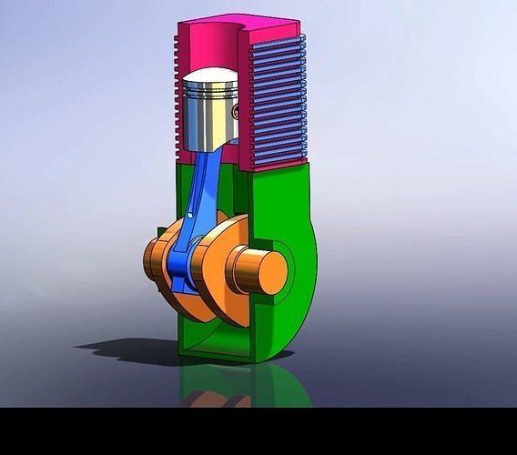 basic engine assembly 3d model  1