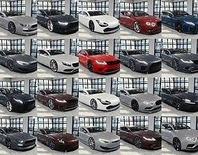 BLENDER EEVEE Brandless 20 car collection 3D model 1