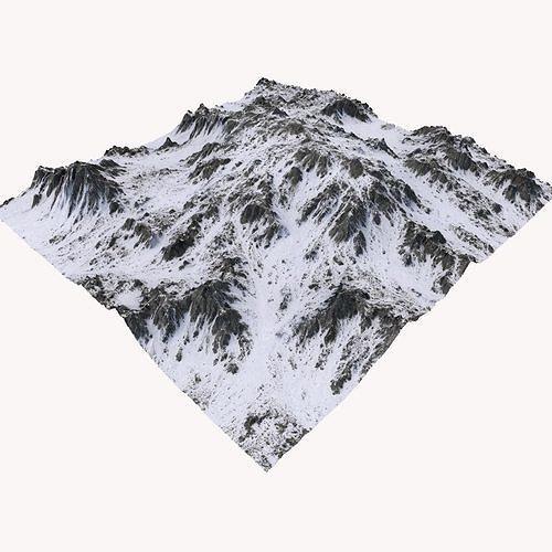 snowy mountain mth101 3d model max obj mtl fbx c4d blend dae 1