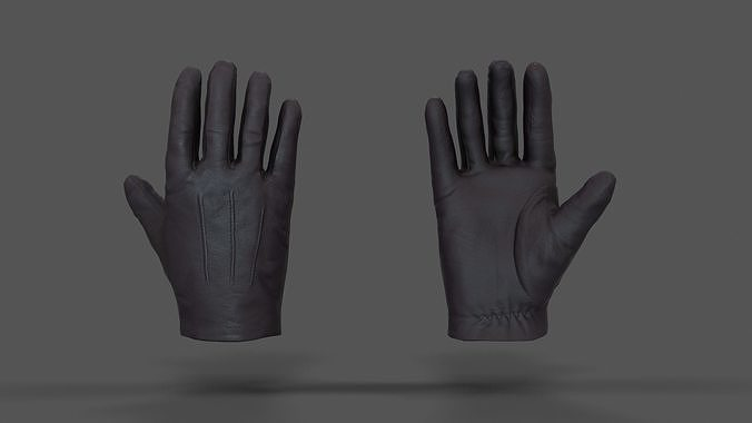 vr hands - leather glove 3d model fbx spp 1