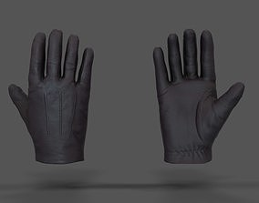 3D model rigged VR Hands - Leather Glove