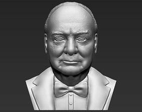 Winston Churchill bust 3D printing ready stl obj