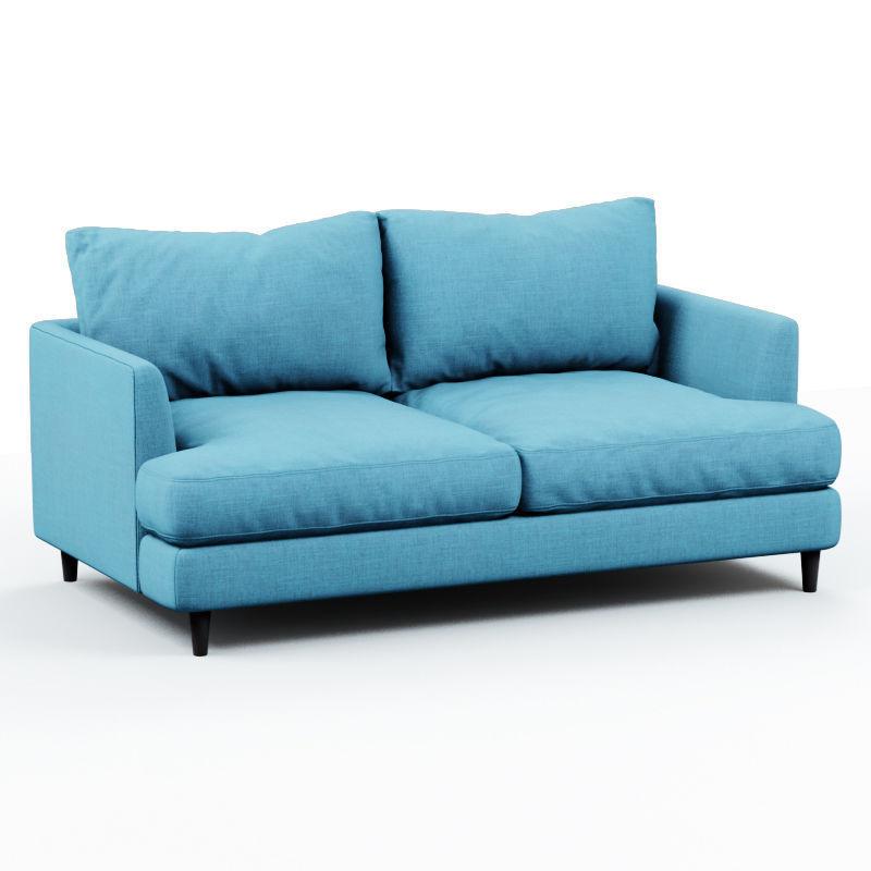 Soft sofa fabric blue 2
