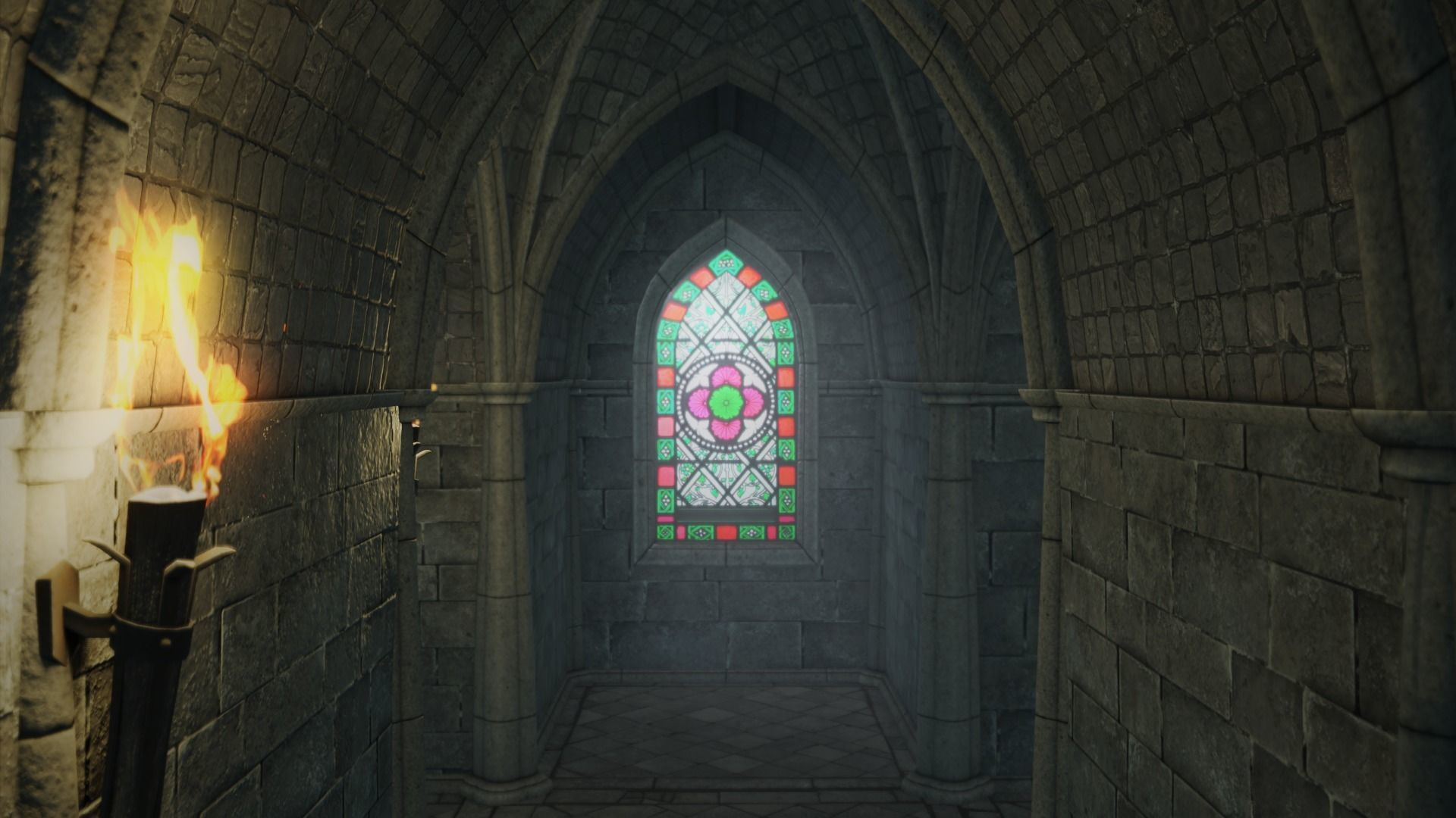 Low Poly Gothic Chapel With PBR Materials
